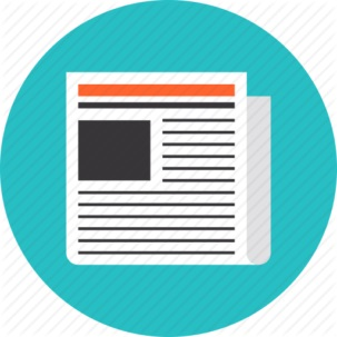 newspaper_news_page_latest_article_front_business_newsletter_daily_press_publication_reportage_extra_media_information_breaking_facts_post_reading_flat_design_icon-512-303x303